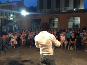 Conferenza di Matteo Mugnai a Chiavari-Piazzetta San Francesco 18/07/2015